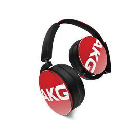 Y50 - Red - On-ear headphones with AKG-quality sound, smart styling, snug fit and detachable cable with in-line remote/mic - Hero