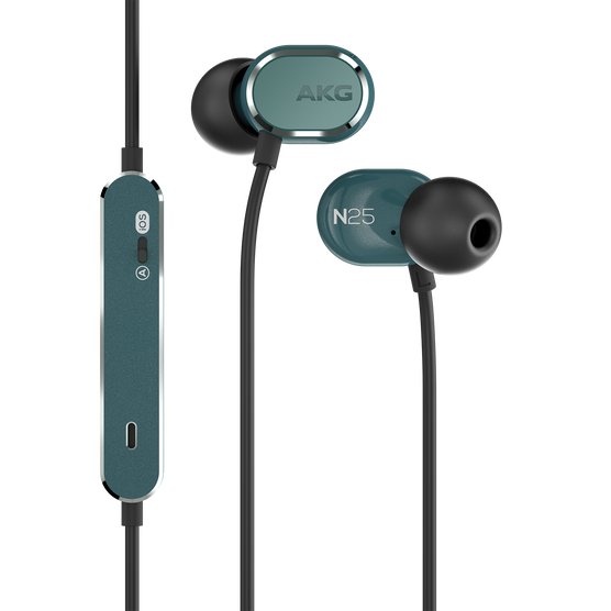 AKG N25 - Teal - Hi-Res in-ear headphones - Hero