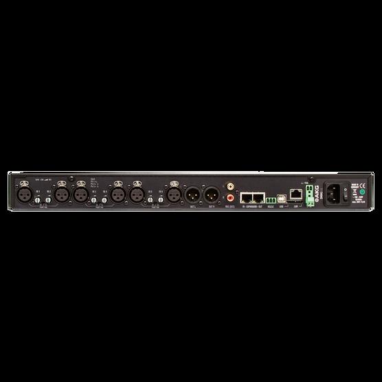 DMM8 UL - Black - Professional digital automatic microphone mixer w/LAN interface via Ethernet - Back