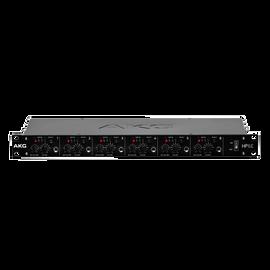 HP6E - Black - 6-channel matrix headphone amplifier - Hero
