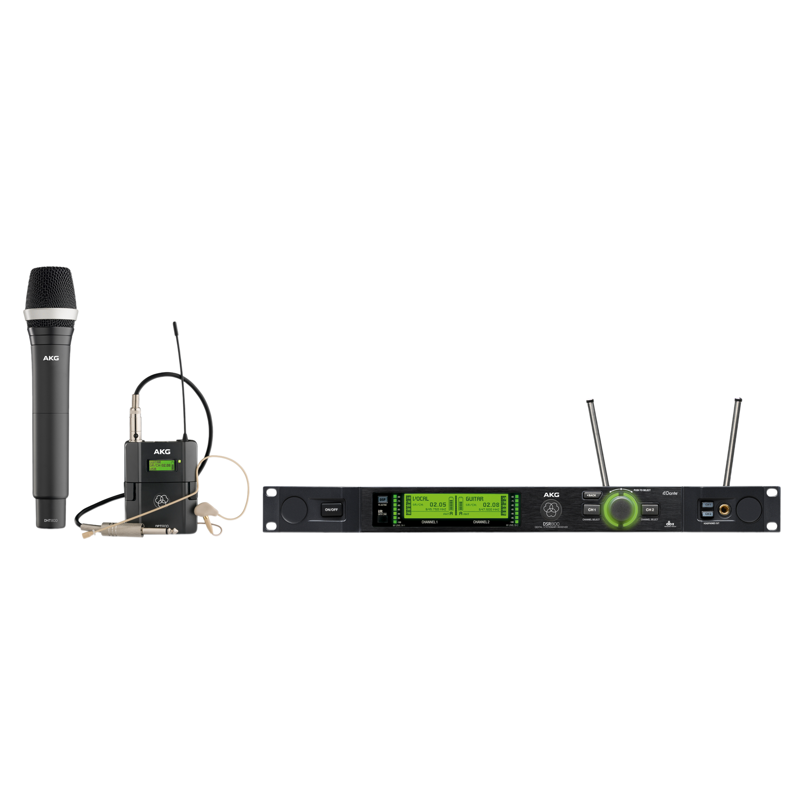 DMS800 Mix Set - Black - Reference digital wireless microphone system - Hero