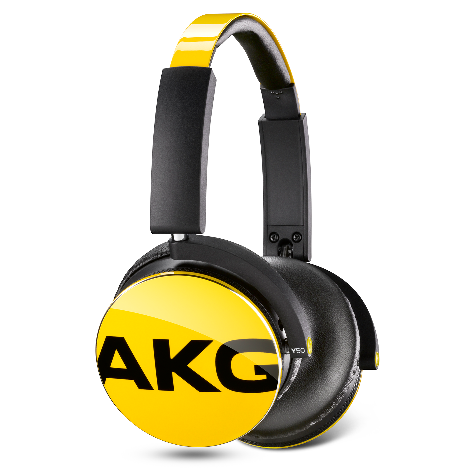 Y50 - Yellow - On-ear headphones with AKG-quality sound, smart styling, snug fit and detachable cable with in-line remote/mic - Detailshot 3
