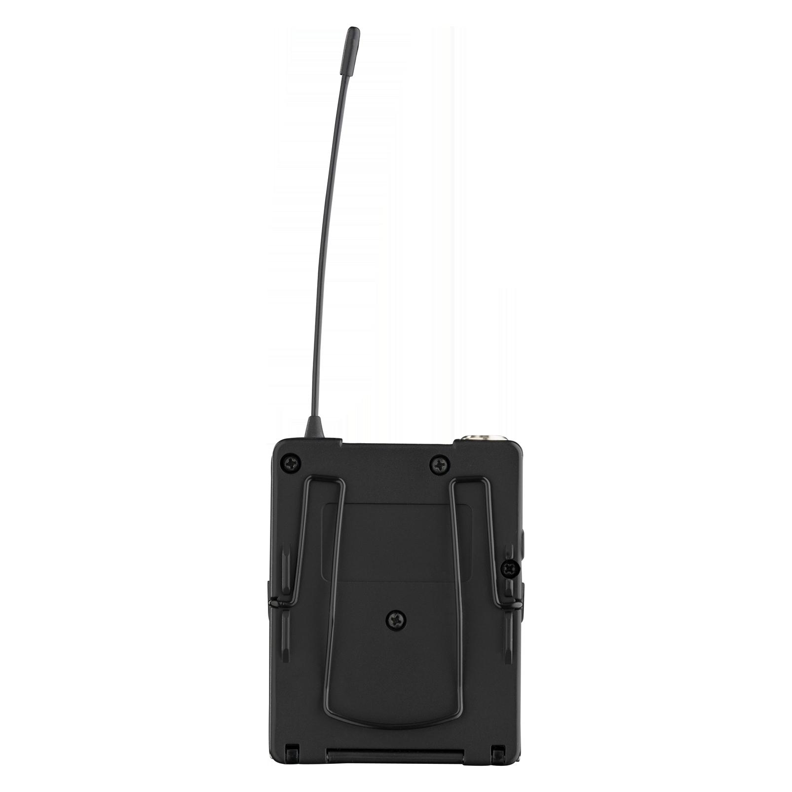 DPT800 Band1 50mW - Black - Reference digital wireless body pack transmitter - Back