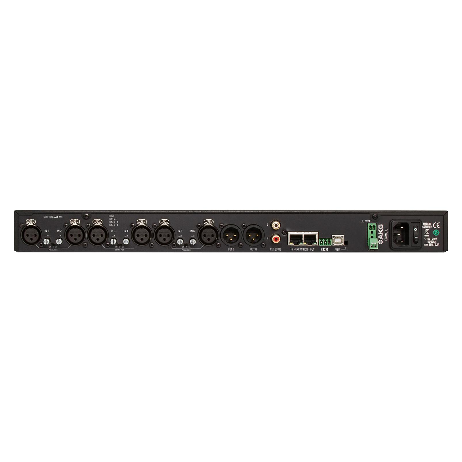 DMM8 U - Black - Professional digital automatic microphone mixer - Back