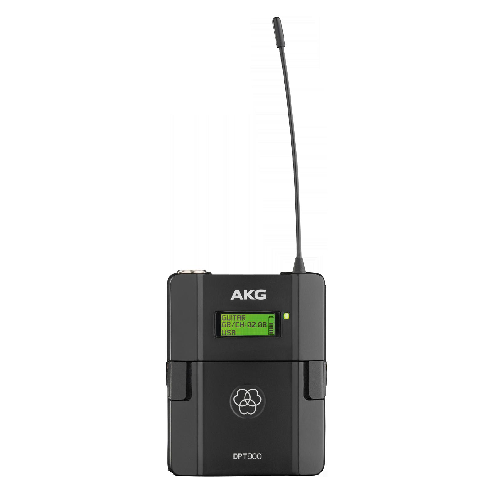 DPT800 Band1 50mW - Black - Reference digital wireless body pack transmitter - Hero